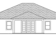Traditional Style House Plan - 3 Beds 2 Baths 1959 Sq/Ft Plan #1058-118 Exterior - Rear Elevation