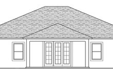 Home Plan - Traditional Exterior - Rear Elevation Plan #1058-118