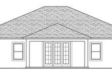 House Plan Design - Traditional Exterior - Rear Elevation Plan #1058-118