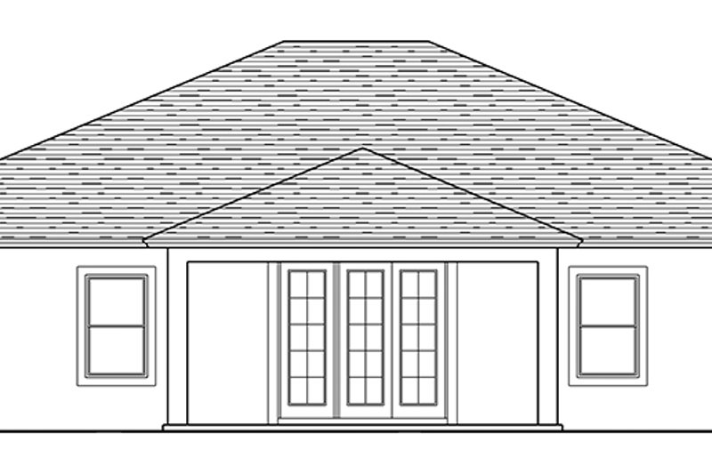 Traditional Exterior - Rear Elevation Plan #1058-118 - Houseplans.com