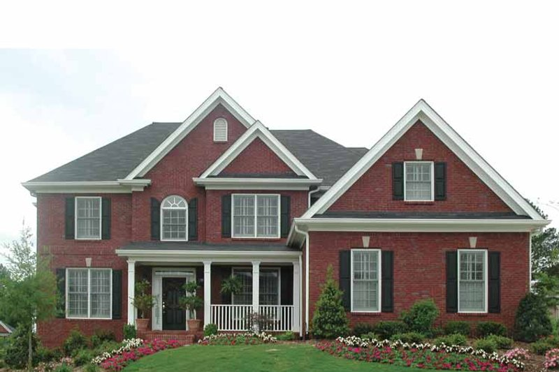 Traditional Exterior - Front Elevation Plan #54-307 - Houseplans.com