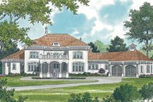 Mediterranean Exterior - Front Elevation Plan #453-440