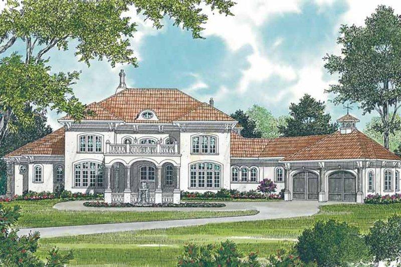Dream House Plan - Mediterranean Exterior - Front Elevation Plan #453-440