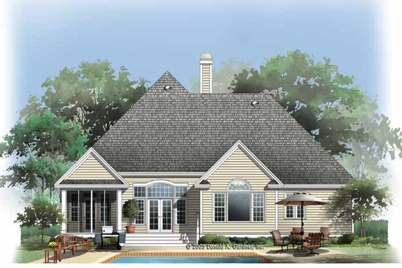 Country Exterior - Rear Elevation Plan #929-786 - Houseplans.com