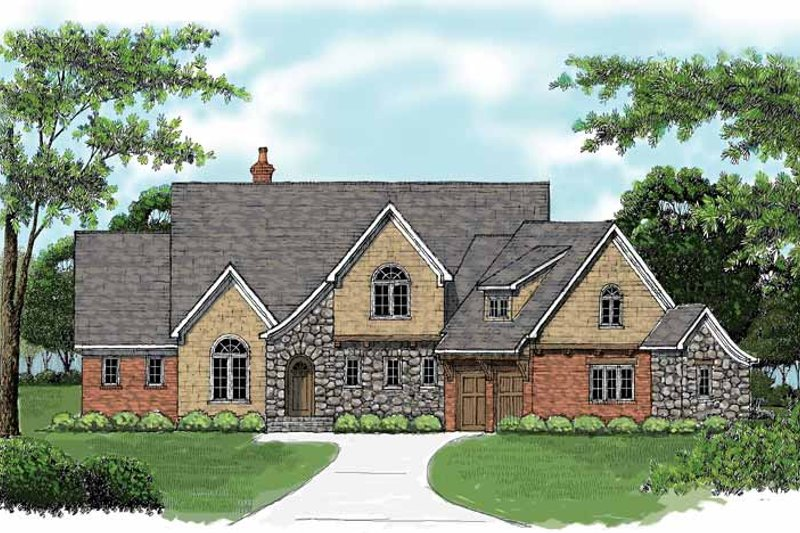 Tudor Exterior - Front Elevation Plan #413-900