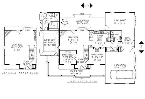 Country Floor Plan - Main Floor Plan Plan #11-223
