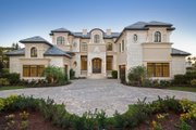 Mediterranean Style House Plan - 5 Beds 5.5 Baths 8001 Sq/Ft Plan #548-5 Exterior - Front Elevation