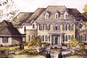 Home Plan - Classical Exterior - Front Elevation Plan #966-70