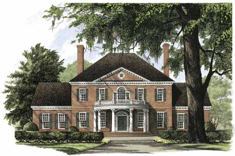 Classical Exterior - Front Elevation Plan #137-301 - Houseplans.com
