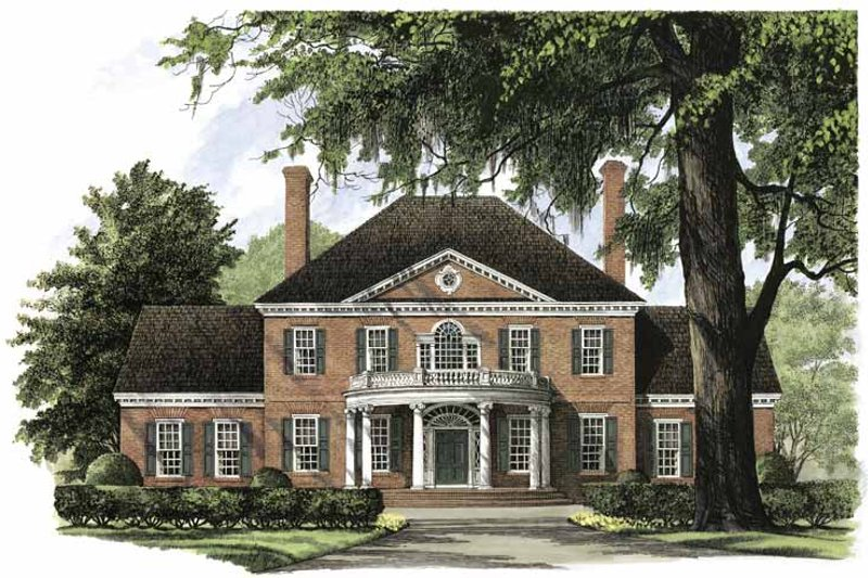 Classical Exterior - Front Elevation Plan #137-301