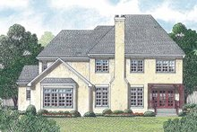 House Plan Design - Country Exterior - Rear Elevation Plan #453-457