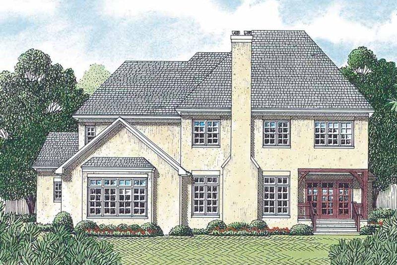 Country Exterior - Rear Elevation Plan #453-457 - Houseplans.com