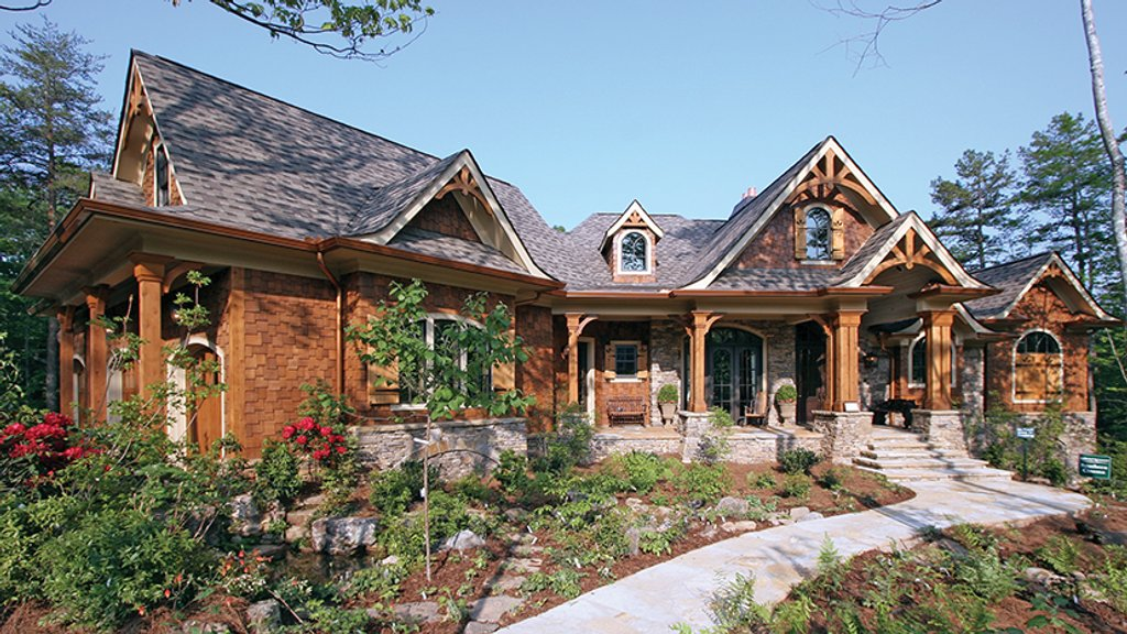 Wood Mountain Elevation : Craftsman style house plan beds baths sq ft