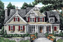 Dream House Plan - Country Exterior - Front Elevation Plan #927-854