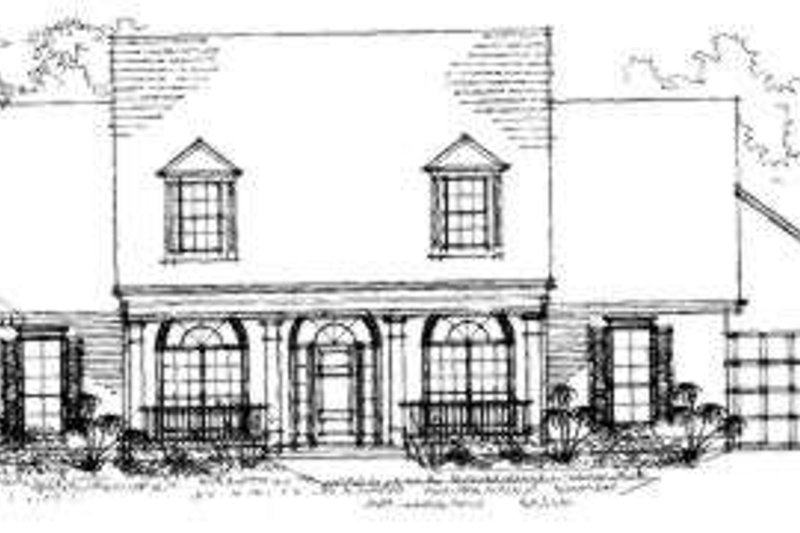 Southern Exterior - Front Elevation Plan #325-208