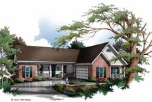 House Plan Design - Country Exterior - Front Elevation Plan #952-152