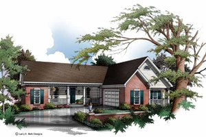 Country Exterior - Front Elevation Plan #952-152