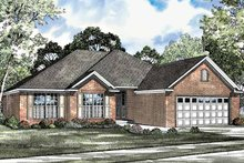 Home Plan - Colonial Exterior - Front Elevation Plan #17-3081