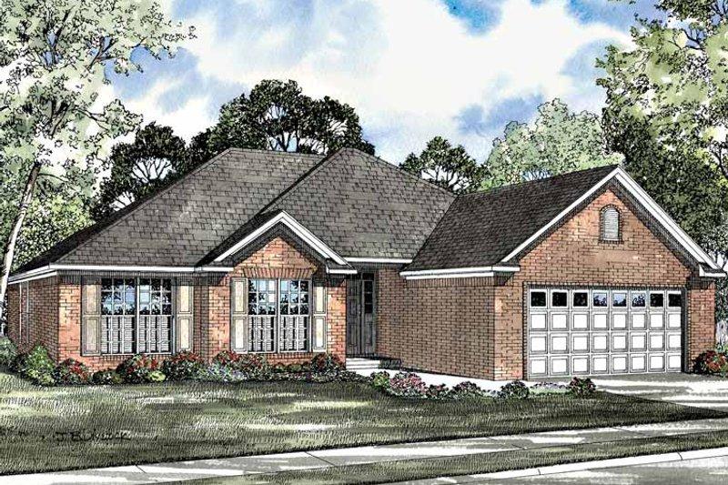 Colonial Exterior - Front Elevation Plan #17-3081 - Houseplans.com