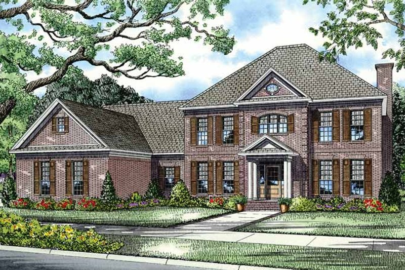 Dream House Plan - Colonial Exterior - Front Elevation Plan #17-2803