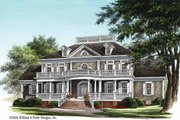 Classical Style House Plan - 4 Beds 4 Baths 3618 Sq/Ft Plan #137-328 Exterior - Front Elevation