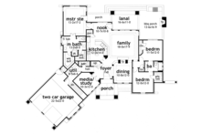Country Floor Plan - Main Floor Plan Plan #120-243