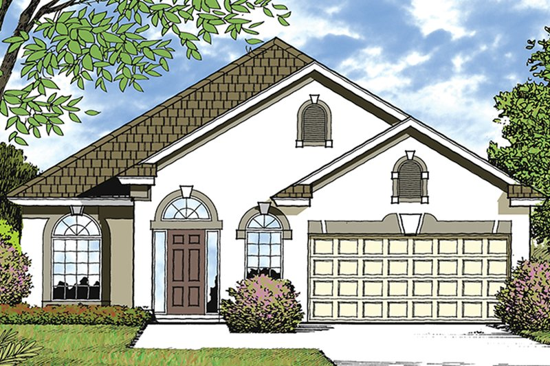 European Exterior - Front Elevation Plan #417-849