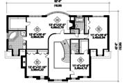 European Style House Plan - 4 Beds 3 Baths 3599 Sq/Ft Plan #25-4790 Floor Plan - Upper Floor Plan