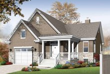 Architectural House Design - Traditional Exterior - Front Elevation Plan #23-2525