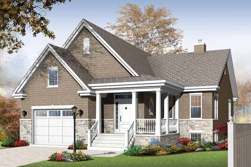 Dream House Plan - Traditional Exterior - Front Elevation Plan #23-2525