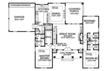 European Floor Plan - Main Floor Plan Plan #456-116