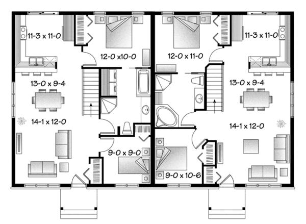 House Plan Design - Craftsman Floor Plan - Main Floor Plan #23-2592