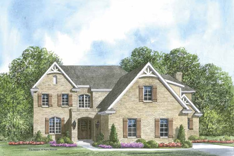 Country Exterior - Front Elevation Plan #952-203