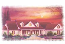 Dream House Plan - Classical Exterior - Front Elevation Plan #15-358