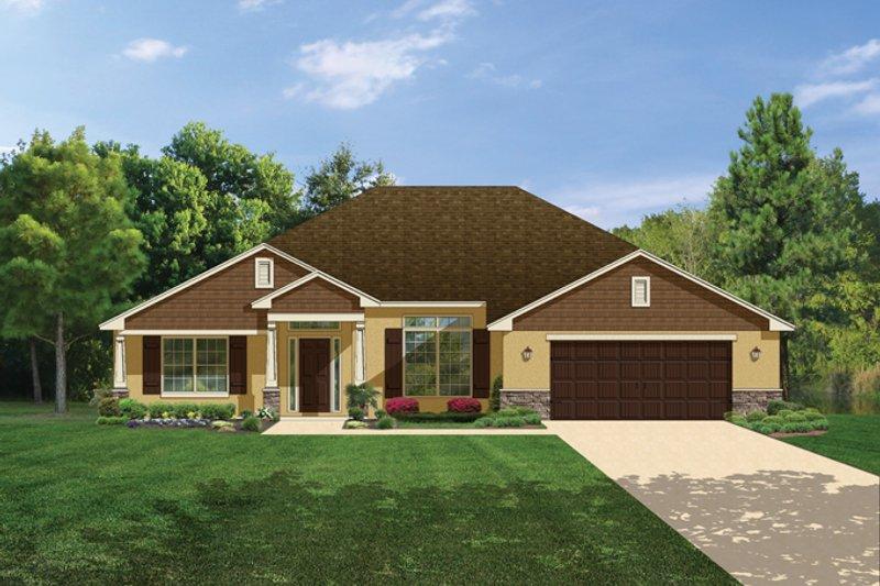 Architectural House Design - Craftsman Exterior - Front Elevation Plan #1058-29
