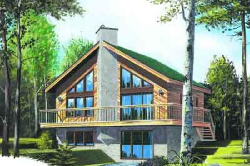 Modern Exterior - Front Elevation Plan #23-602 - Houseplans.com
