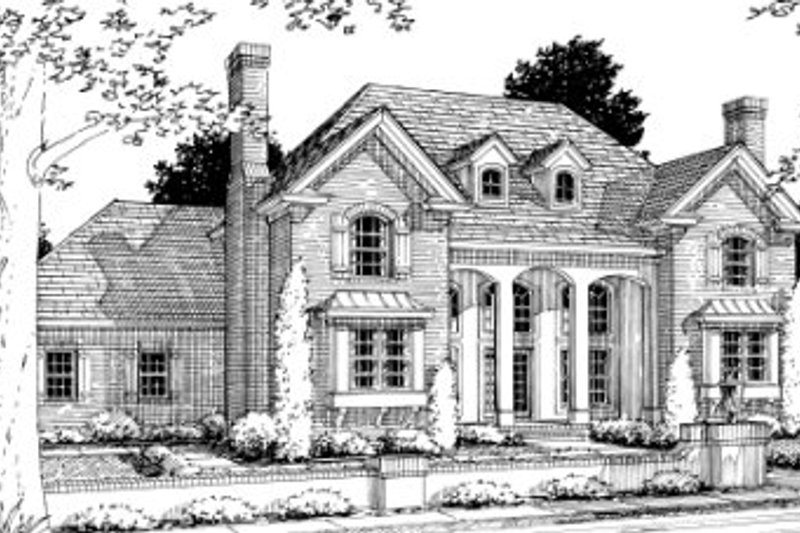 Southern Exterior - Front Elevation Plan #20-336