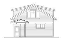 Home Plan - Country Exterior - Rear Elevation Plan #124-1100