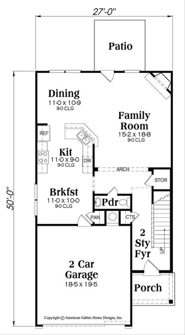Traditional Floor Plan - Main Floor Plan Plan #419-277