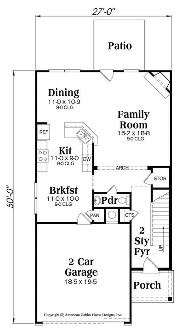 Traditional Floor Plan - Main Floor Plan Plan #419-277