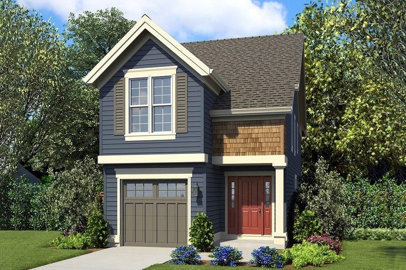 Architectural House Design - Craftsman Exterior - Front Elevation Plan #48-937