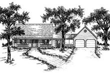 Country Exterior - Front Elevation Plan #36-160