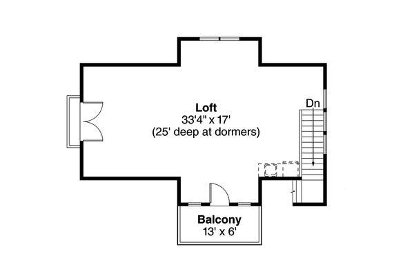 Craftsman Floor Plan - Upper Floor Plan Plan #124-961