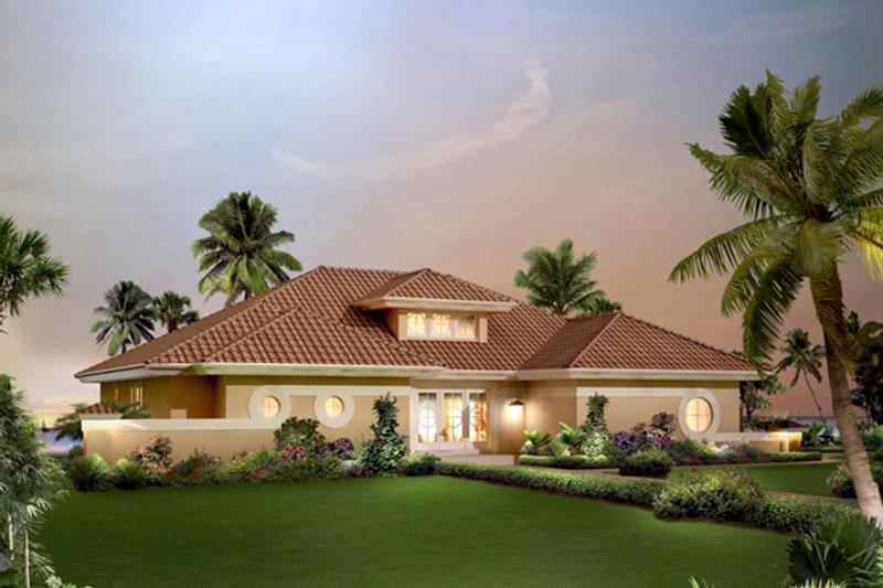 Home Plan - Beach Exterior - Front Elevation Plan #57-677