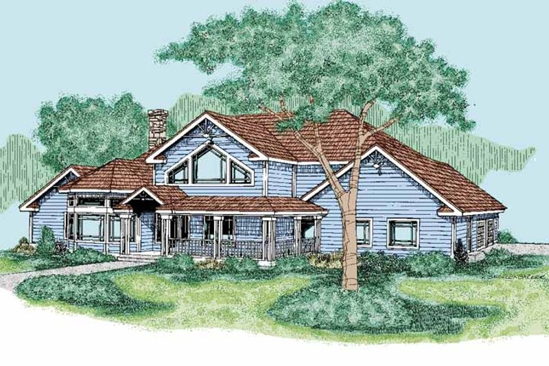 Home Plan - Contemporary Exterior - Front Elevation Plan #60-657