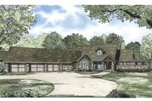 Ranch Exterior - Front Elevation Plan #17-3327