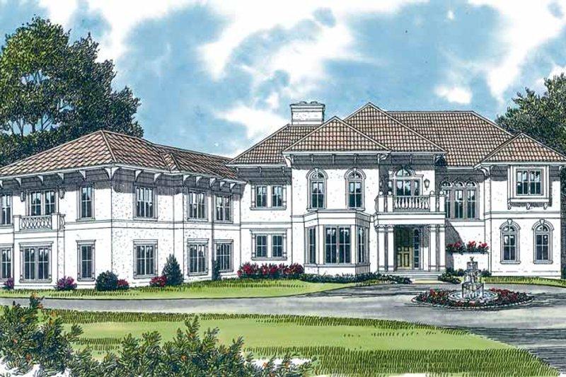 Dream House Plan - Mediterranean Exterior - Front Elevation Plan #453-366