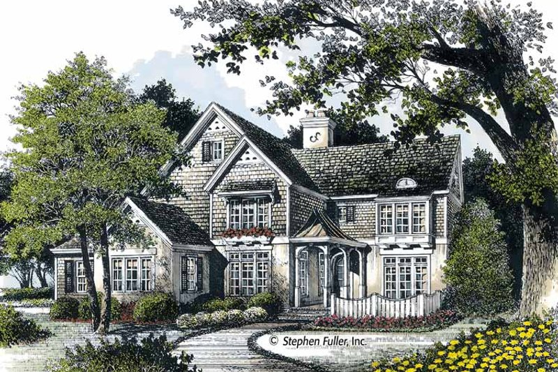 House Plan Design - European Exterior - Front Elevation Plan #429-361