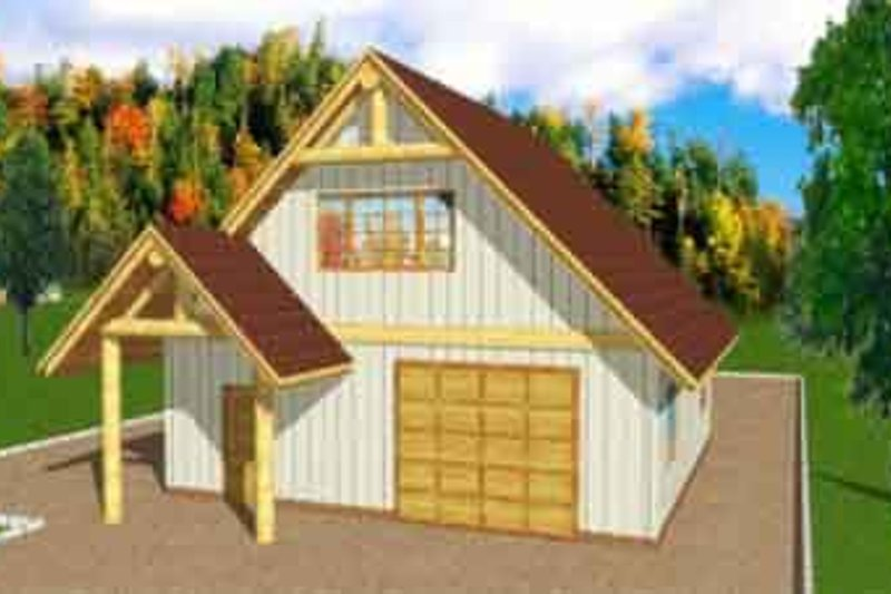 Traditional Exterior - Front Elevation Plan #117-257 - Houseplans.com