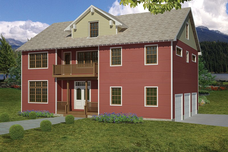 Country Exterior - Front Elevation Plan #1061-34 - Houseplans.com